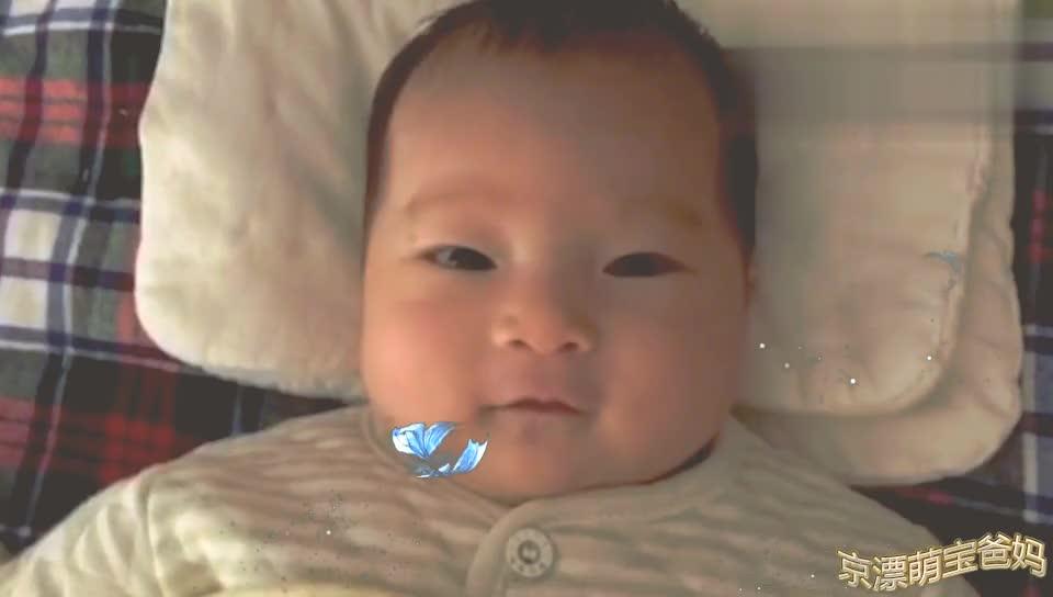 一个半月宝宝可以和麻麻对话了,看宝宝说什么大家仔细听哦!