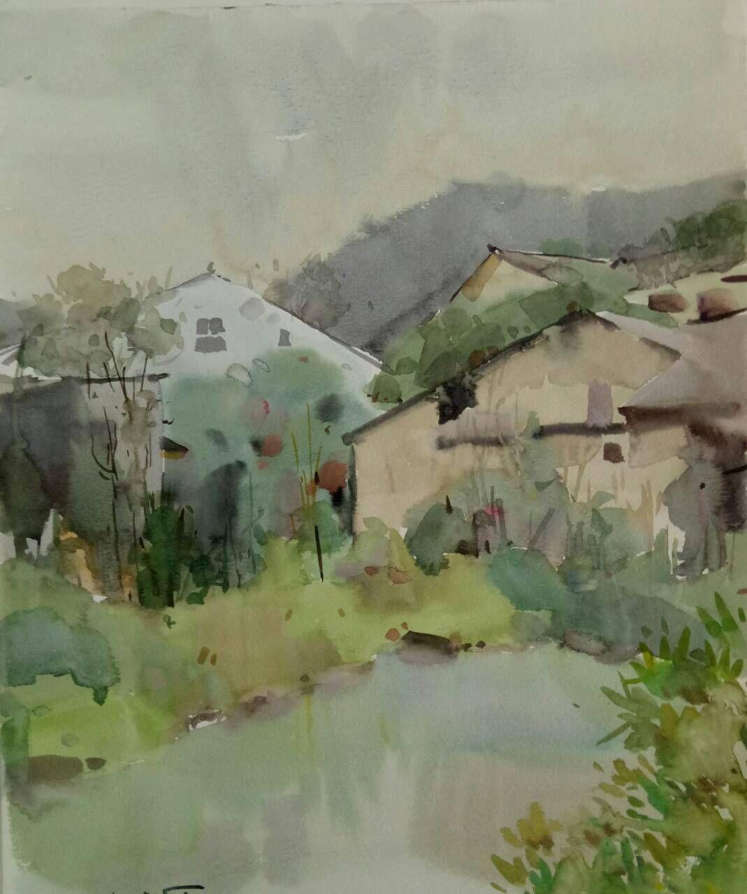 水彩风景画来自四川美术学院水彩专业研究生张晓杰