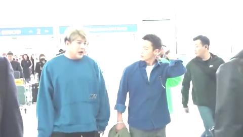Super Junior在机场出现 这个男团依然这么红