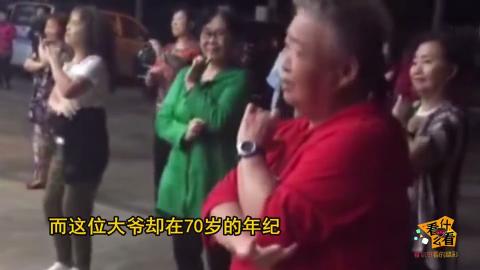 牛人北京七旬老人表演花式单杠