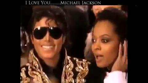 MJ被女神戴安娜·罗斯调戏(摸脸杀) 迈克科杰克逊笑到合不拢嘴