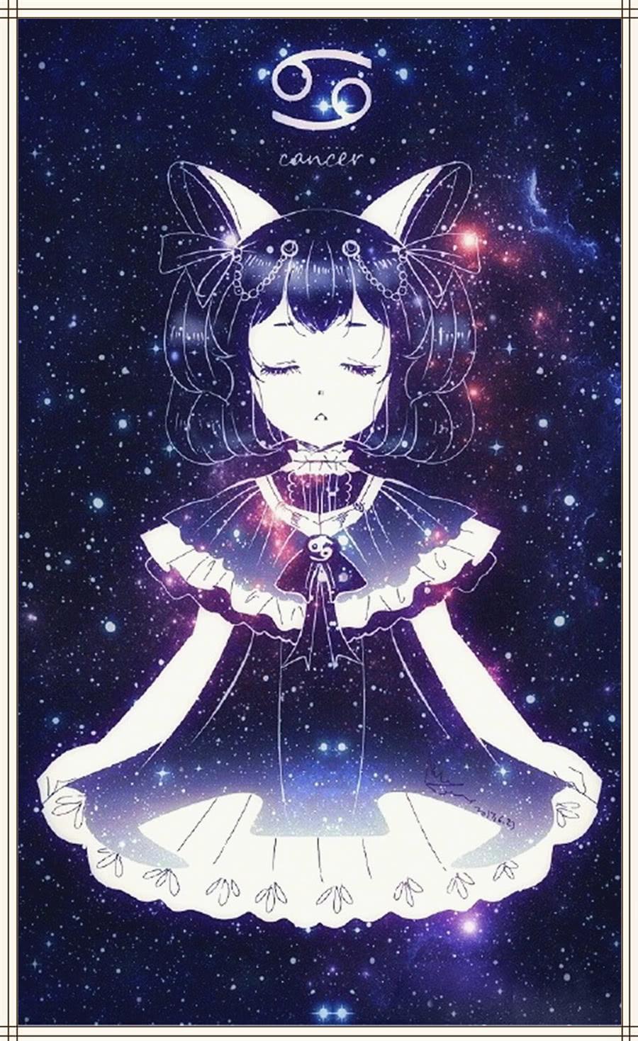 月亮手绘王者十二星座:小乔白羊座,孙尚香金牛座,巨蟹大佬金牛座女12宫图片