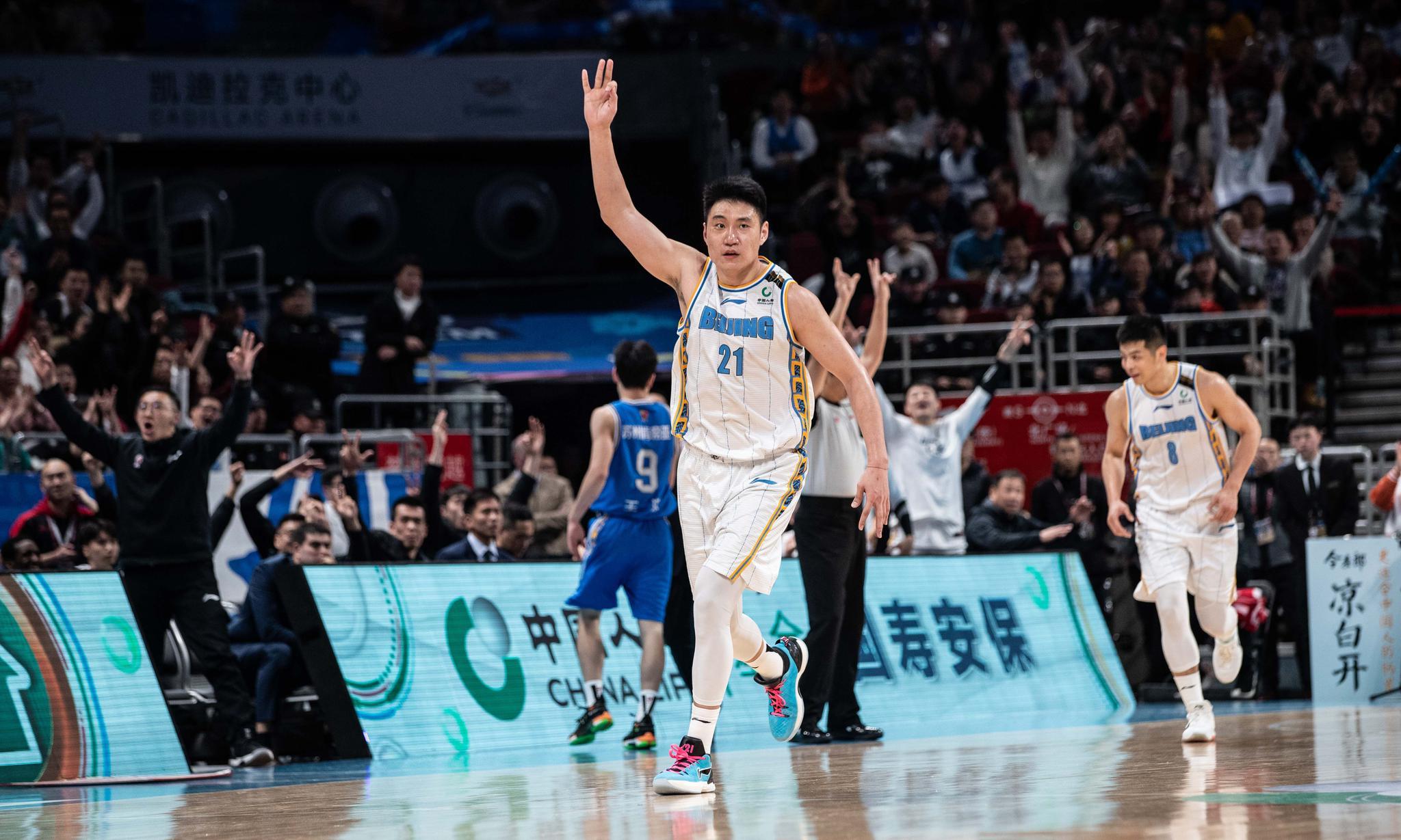 篮球——常规赛:北京首钢胜江苏苏州肯帝亚