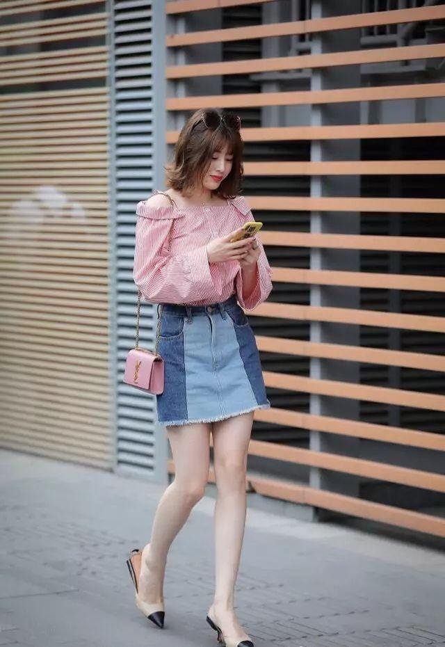街拍:时尚潮流搭配,不但显身材还青春有活力!