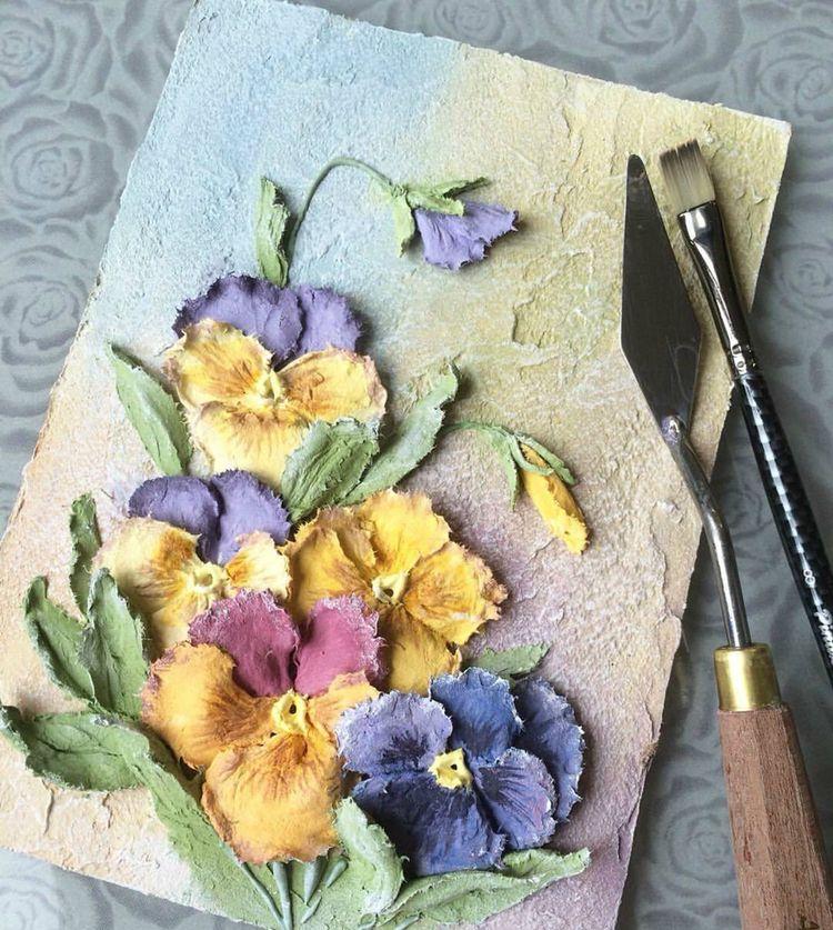 这就是浮雕石膏刮画,立体效果超赞的装饰画