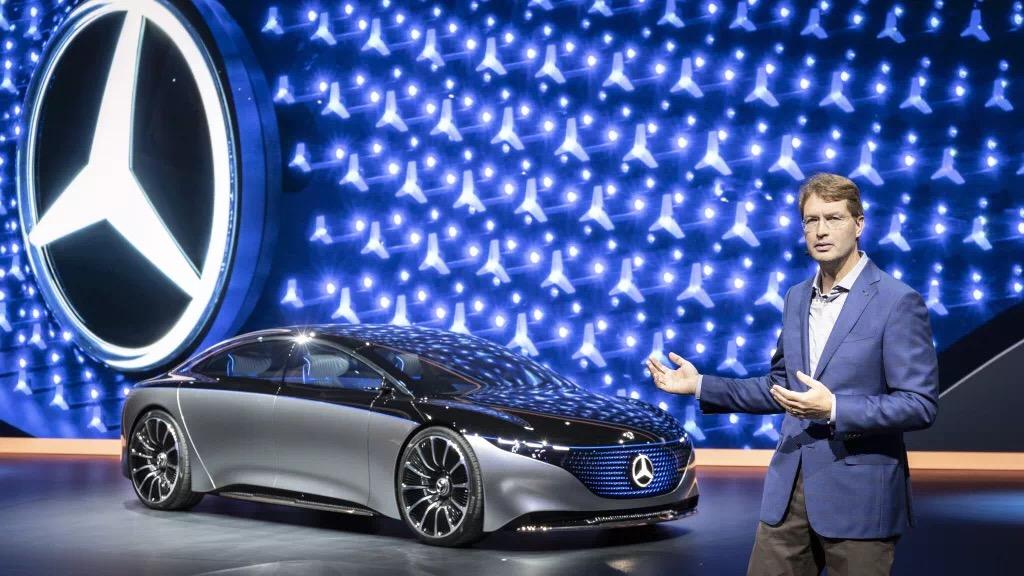 奔驰多款电动车型亮相法兰克福车展 VISION EQS概念车全球首发