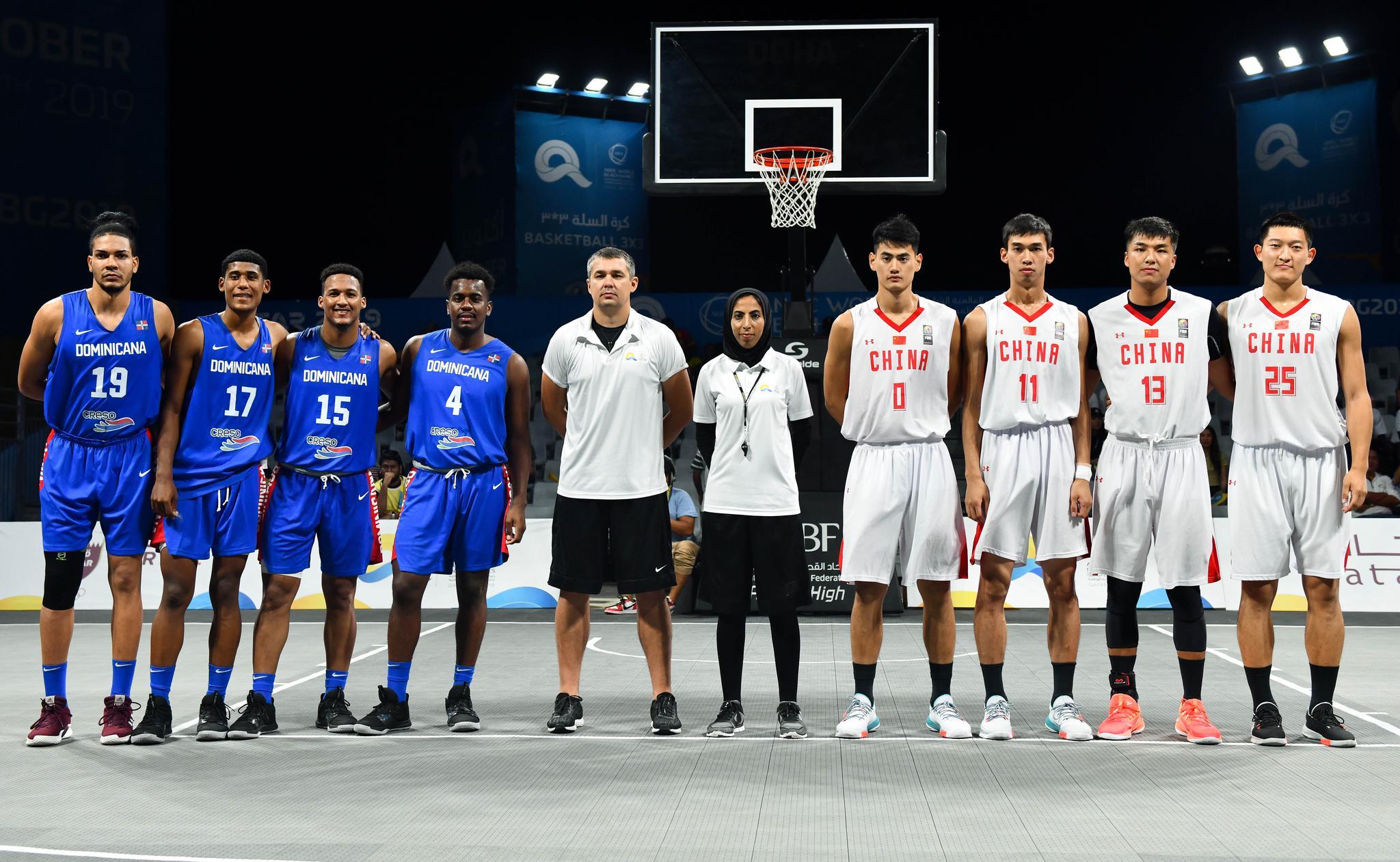 沙滩篮球——世界沙滩运动会:中国男队胜多米尼加男队