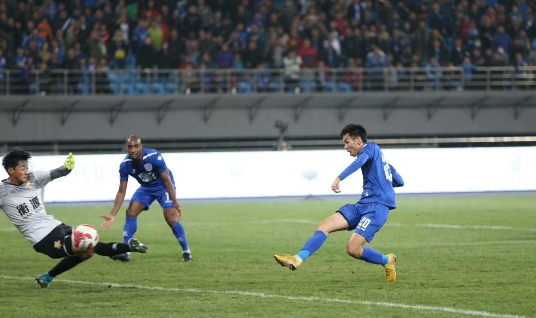 穆里奇在中甲第四轮打进两球,帮助石家庄永昌3:2战胜上海申鑫