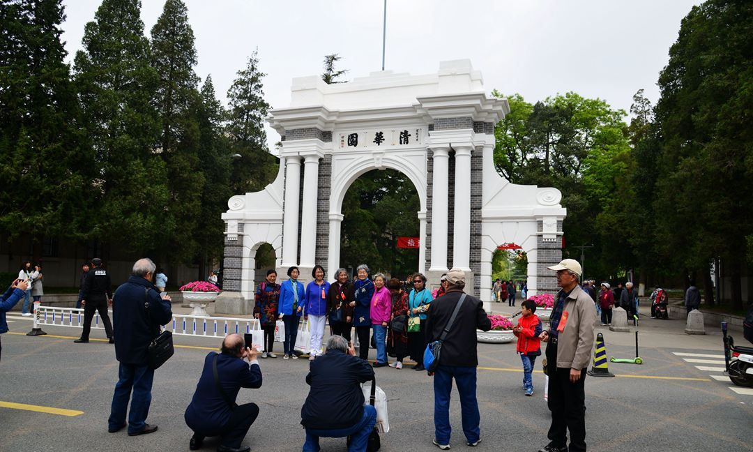 清华大学迎108周年校庆,校园免费开放日游客众多