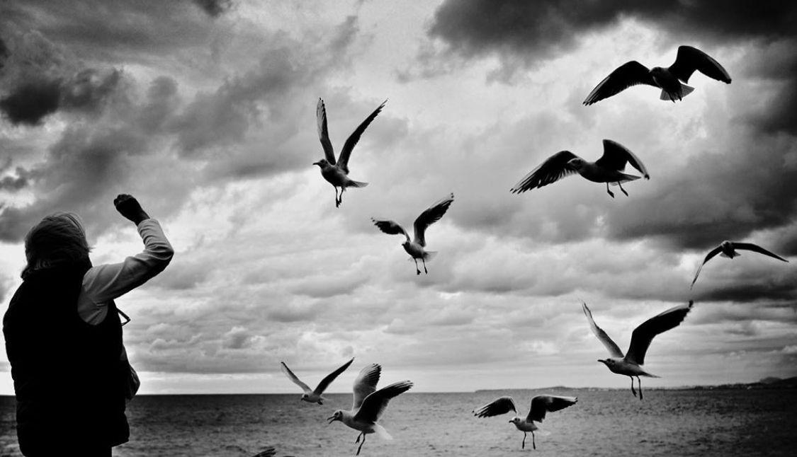 海滨小镇,法国尼斯的黑白人文摄影