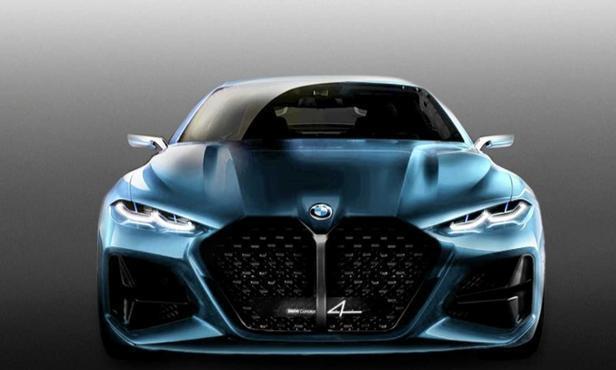 宝马Concept 4概念车最新修改版渲染图 调整格栅造型