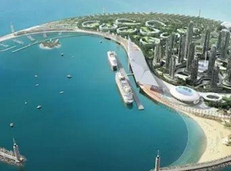 """中国最霸气的填海工程:欲打造""""东方迪拜"""",形状酷似太极八卦!"""