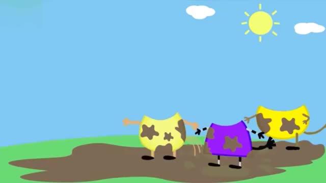 乔治,佩德罗和斑马苏怡的身上弄满了泥土,帮它们找到头部