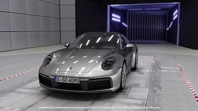 保时捷911跑车,自适应空气动力学完美展示