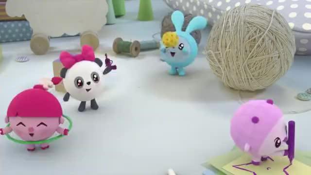 瑞奇宝宝跳跳有一个球大家都想玩这要怎么办啊