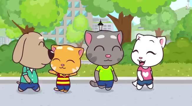 汤姆猫英雄小队:本在吃汉堡,吸尘器过来就抢,你是饿了?