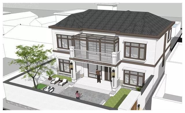 坐标北京怀柔,历时5个月的自建小别墅终于完工了,造价50万