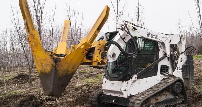 为解决移树存活率低,老外发明硬核移树机,移植仅需两分钟