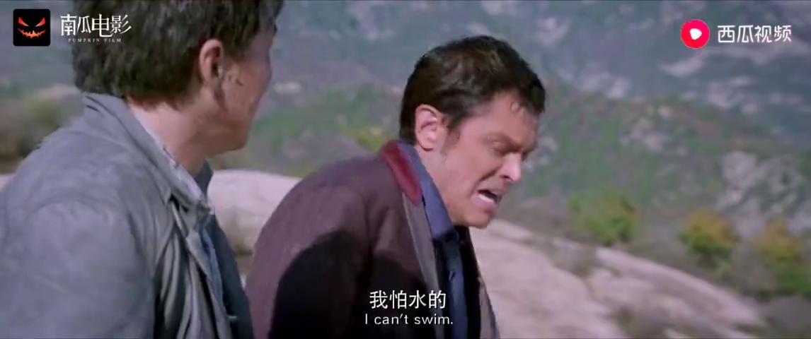 绝地逃亡:成龙带着康纳逃亡遇悬崖,不料龙叔开口我带你飞