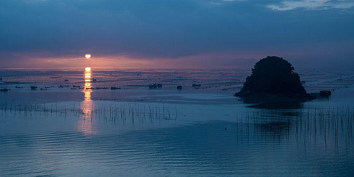 霞浦的滩涂自然风光美不胜收,这可是摆不出来的哟!