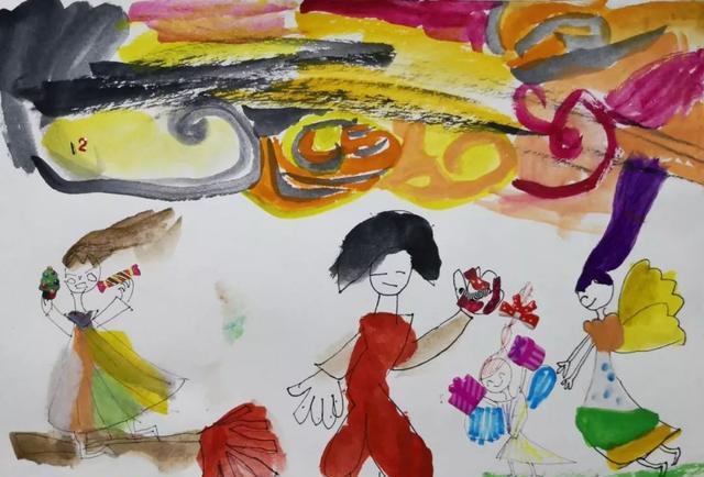 """叻豆君不提倡小朋友描图,填色,包括简笔画,这些画画形式都是以""""形准"""""""