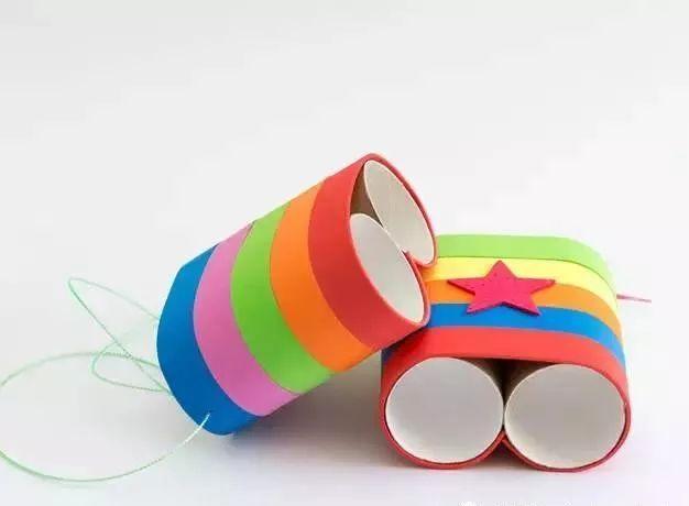 幼儿园手工之废物利用:卷纸筒制作大全,动物涂鸦礼盒都有了