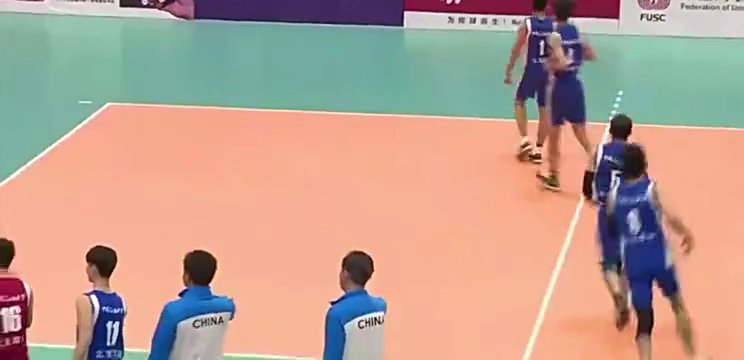 中国大学生排球联赛北方男子组中国石油大学豪取三连冠!