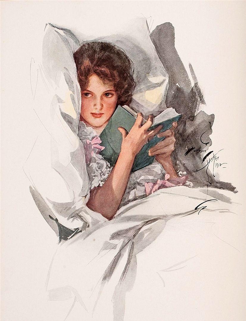 美人如花:19世纪美国黄金时代的插画家Harrison Fisher作品赏析