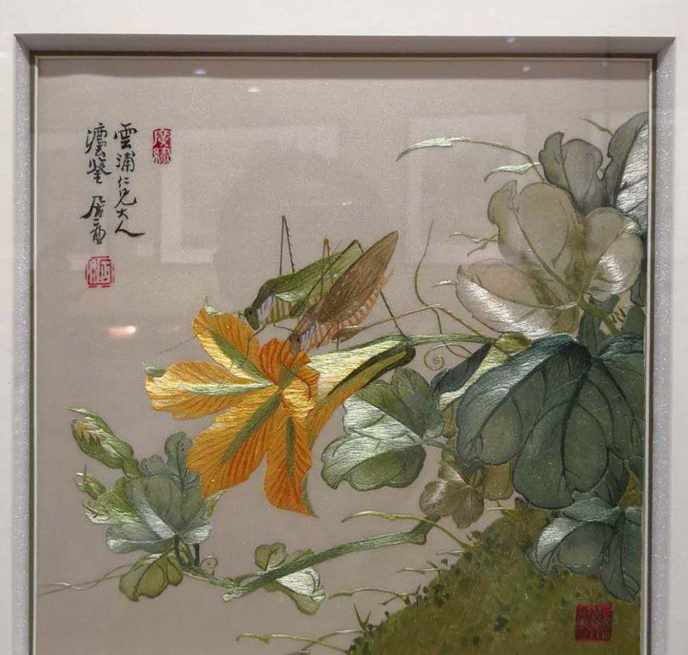 广绣作品,中国四大名绣之一
