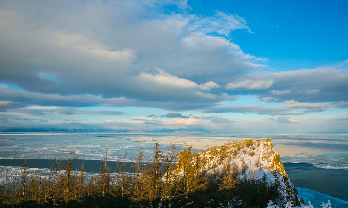 贝加尔湖奥尔洪岛最北的合浪角,远眺仿若冰河时代
