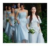 刘亦菲当伴娘仙气飘飘,baby的伴娘团礼服真的是无力吐槽!
