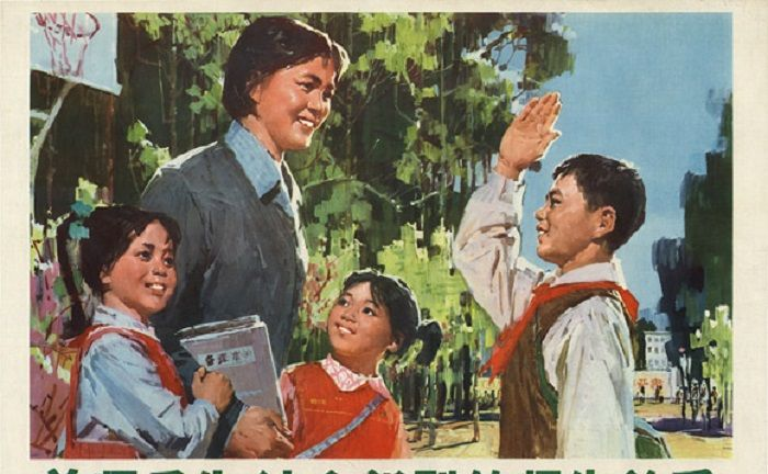 宣传画里的师生关系:亲切和谐,哪个让你想起授业恩师?