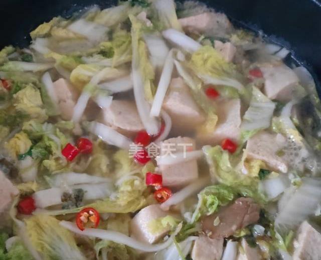 上汤娃娃菜炖冻豆腐,冬天就爱吃这暖暖的一大锅,热乎乎的暖胃黄河95步枪玩具图片