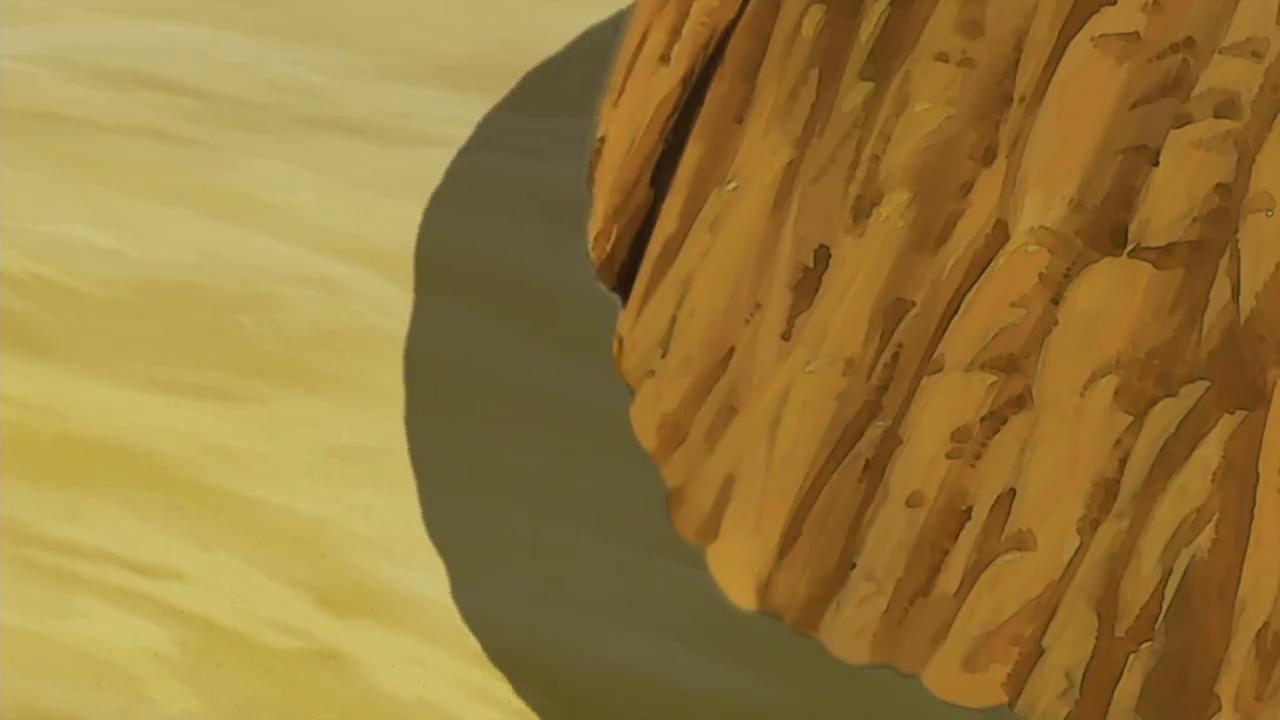 山体瞬间崩塌老夫子和大番薯被炸到了水里,好在大家没事