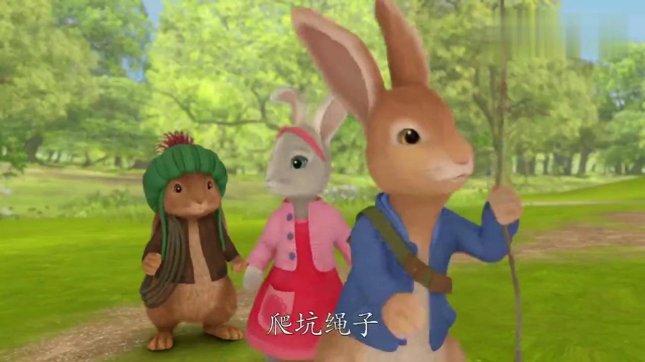 比得兔来到花园却发现李子不见了,他想抓住偷李子的小偷