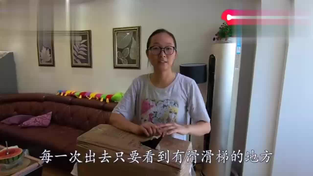 宝宝爱进游乐场宝妈网购国产大玩具每年可以节省好多钱