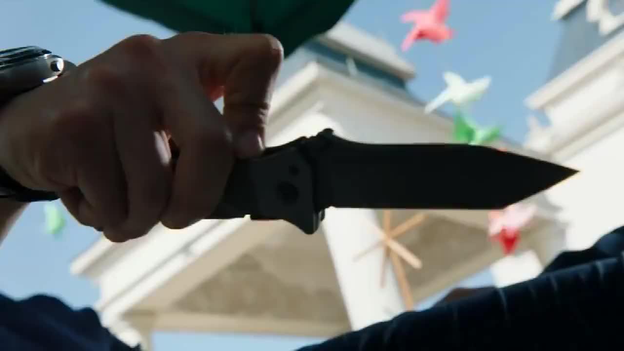《反恐特战队之天狼》石头把刀子插在了秦晓阳的照片上