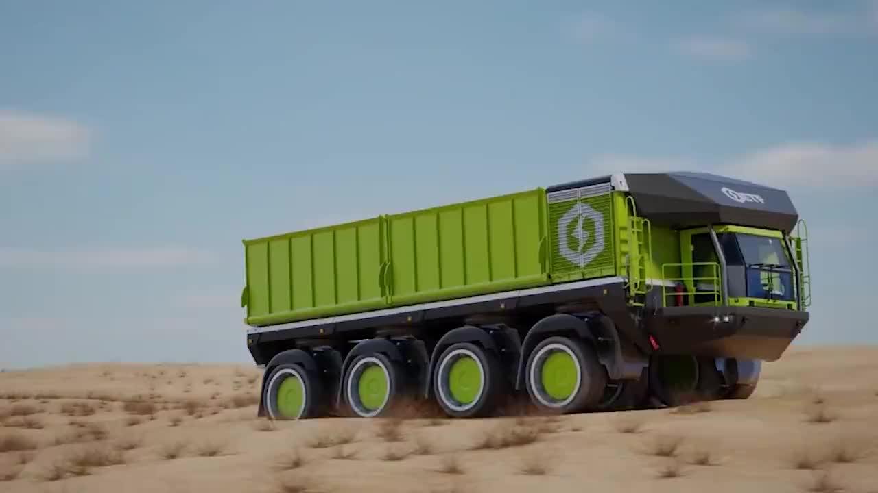 世界首辆360度转弯汽车可以自动装卸货不愧是德国制造