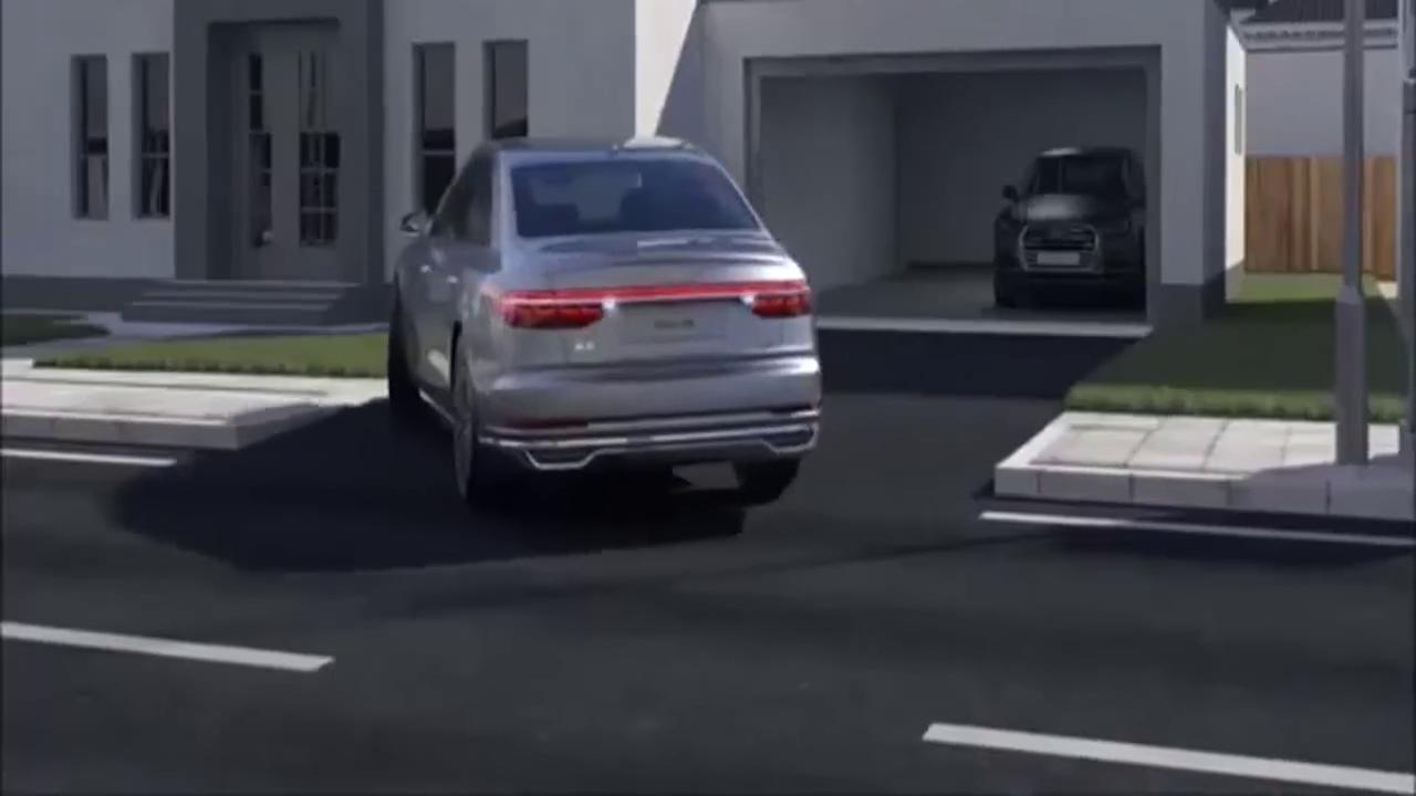 视频:2018款奥迪A8开启自动泊车,按下手机那一刻才是惊喜的开始