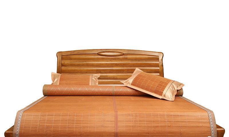 自由折叠的清凉竹席,经久耐用不磨损,让你享受舒适的睡眠