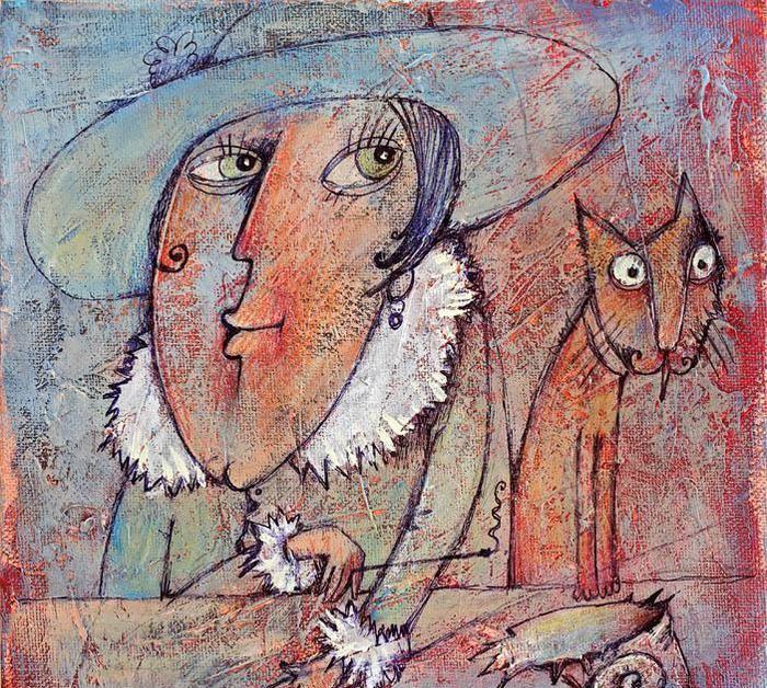 治愈性画作就是呆看好长时间都不无聊:以色列女画家亚历山德罗娃