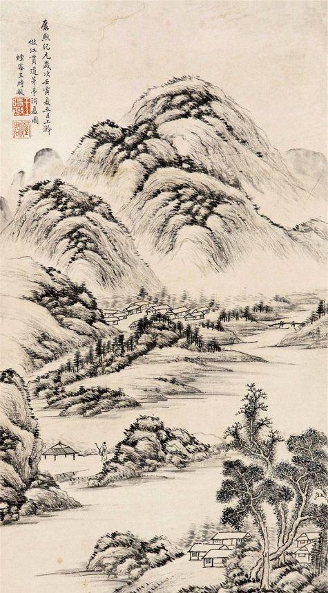 布墨神逸,丘壑浑成,明末清初著名画家王时敏山水画作品欣赏