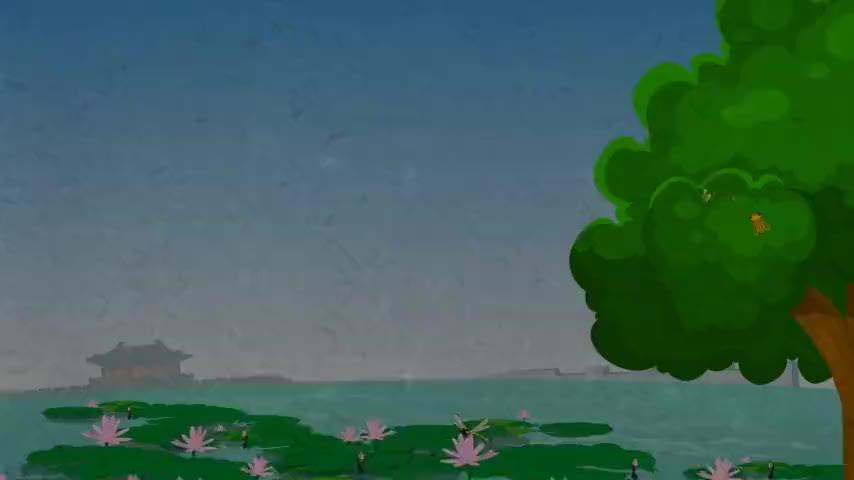 兔小贝儿歌童年池塘边的榕树上知了在声声叫着夏天