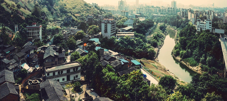 重庆主城进入北碚城区的第一道门户,如今是北碚物资回收集散地