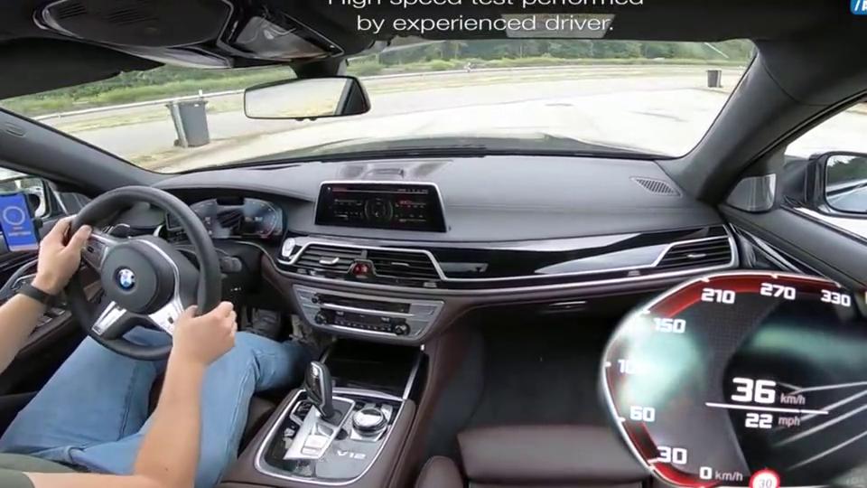 视频:试驾宝马M760LI,6.6V12引擎,轻松上300