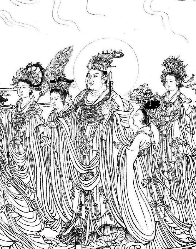 珍稀国宝古画,吴道子八十七神仙图