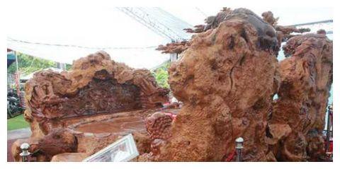 男子用树根打造一套6砘重的家具,现估价超过150万引热议