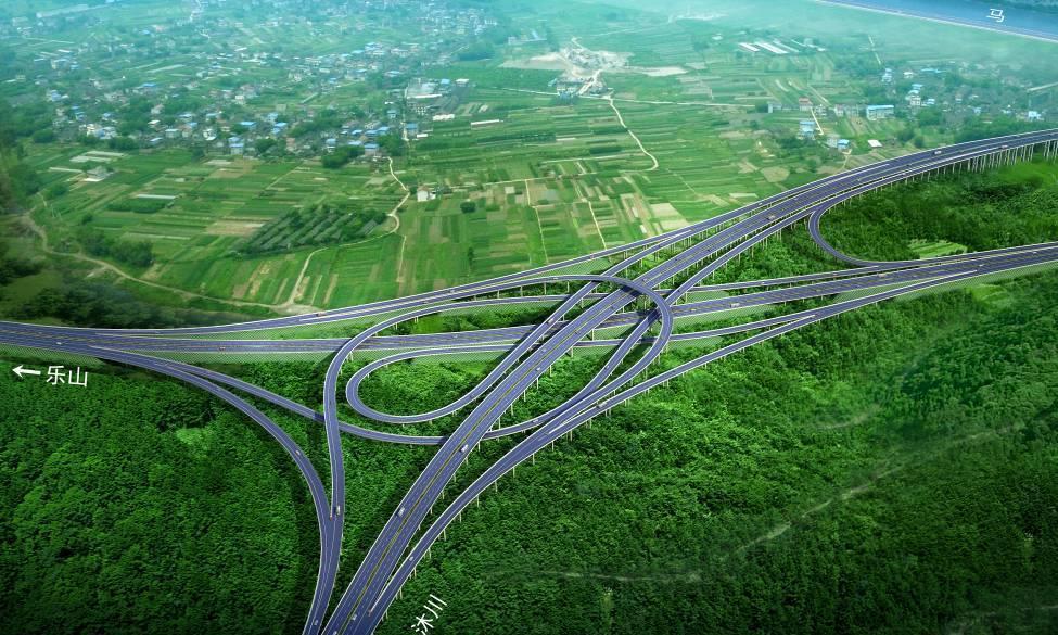 四川在建的一条高速公路,耗资221.99亿,全线采用双向四车道