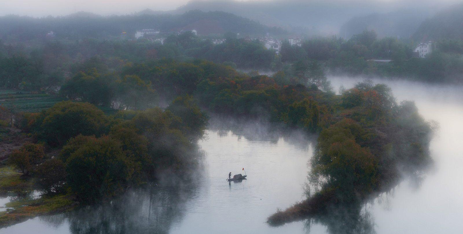风光摄影:婺源月亮湾