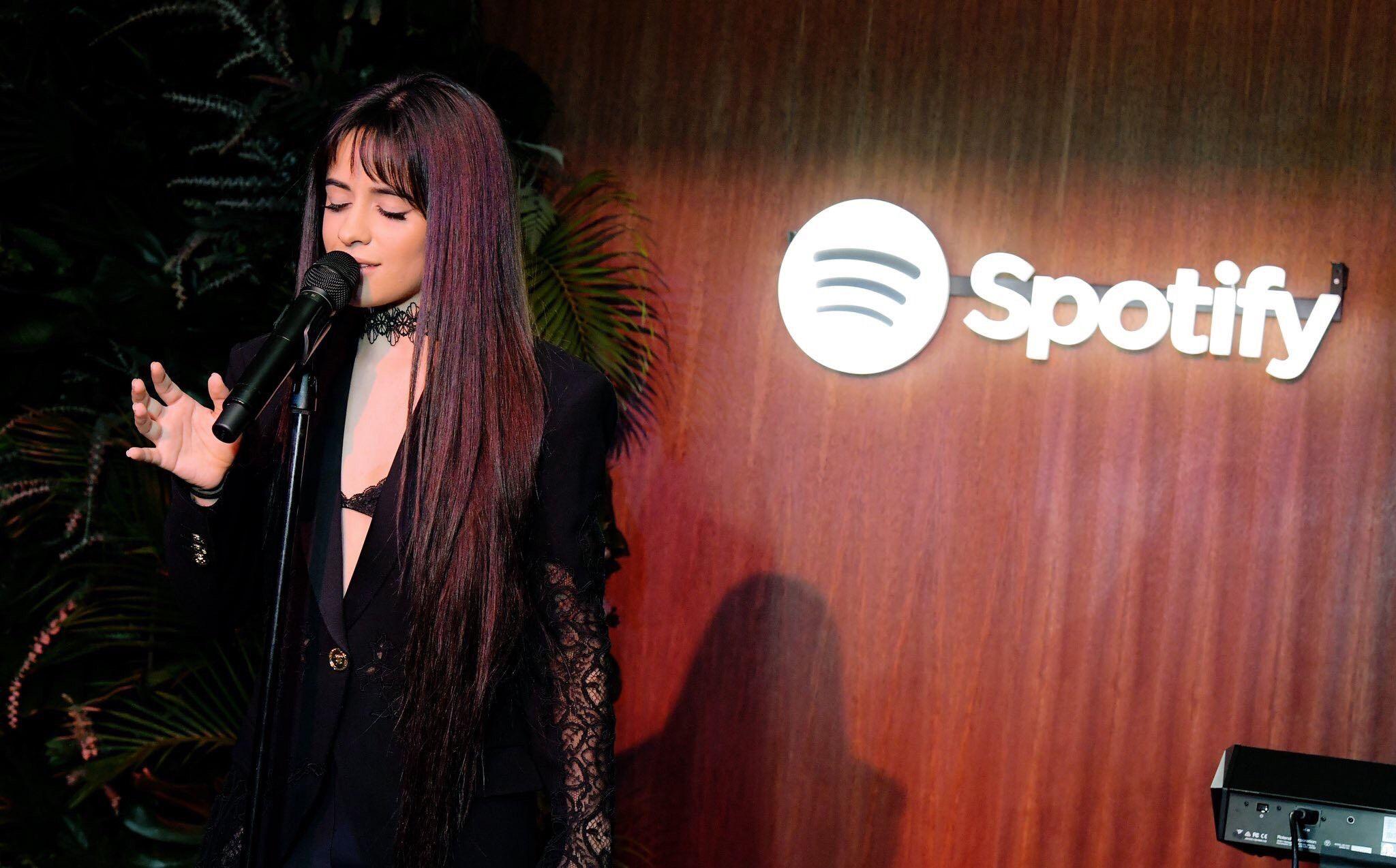 CamilaCabello卡妹今日在洛杉矶参加Spotify活动
